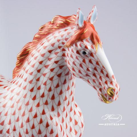 Horse 15690-0-00 VHR Red - Herend Animal Figurine