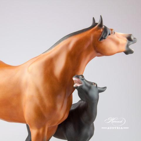 Horses 5893-0-00 MCD Naturalistic - Herend Animal Figurine
