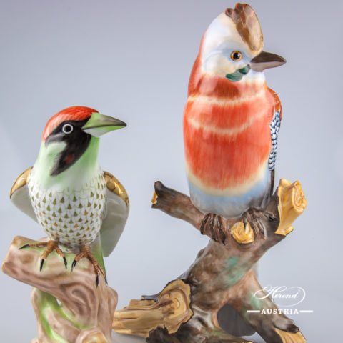 Jay and Popinjay Birds - Herend Animal Figurines