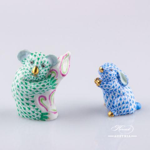 Koala small 15465-0-00 VHV Green - Herend Animal Figurine