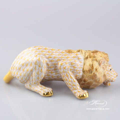 Lion 15435-0-00 VHJ Yellow - Herend Animal Figurine