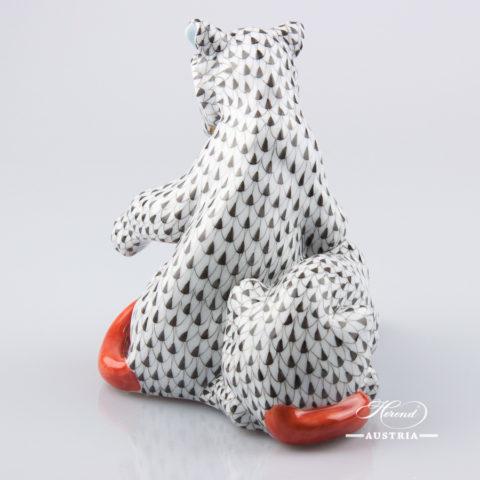 Lion Cubs 15358-0-00 VHN Black - Herend Porcelain Animal Figurine