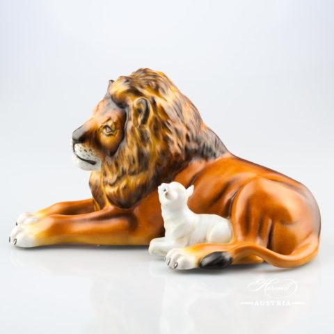 Lion with Lamb 15670-0-00 MCD Brown - Herend Animal Figurine