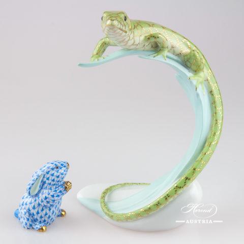 Lizard 15268-0-00 CO-V1 Green - Herend Animal Figurine