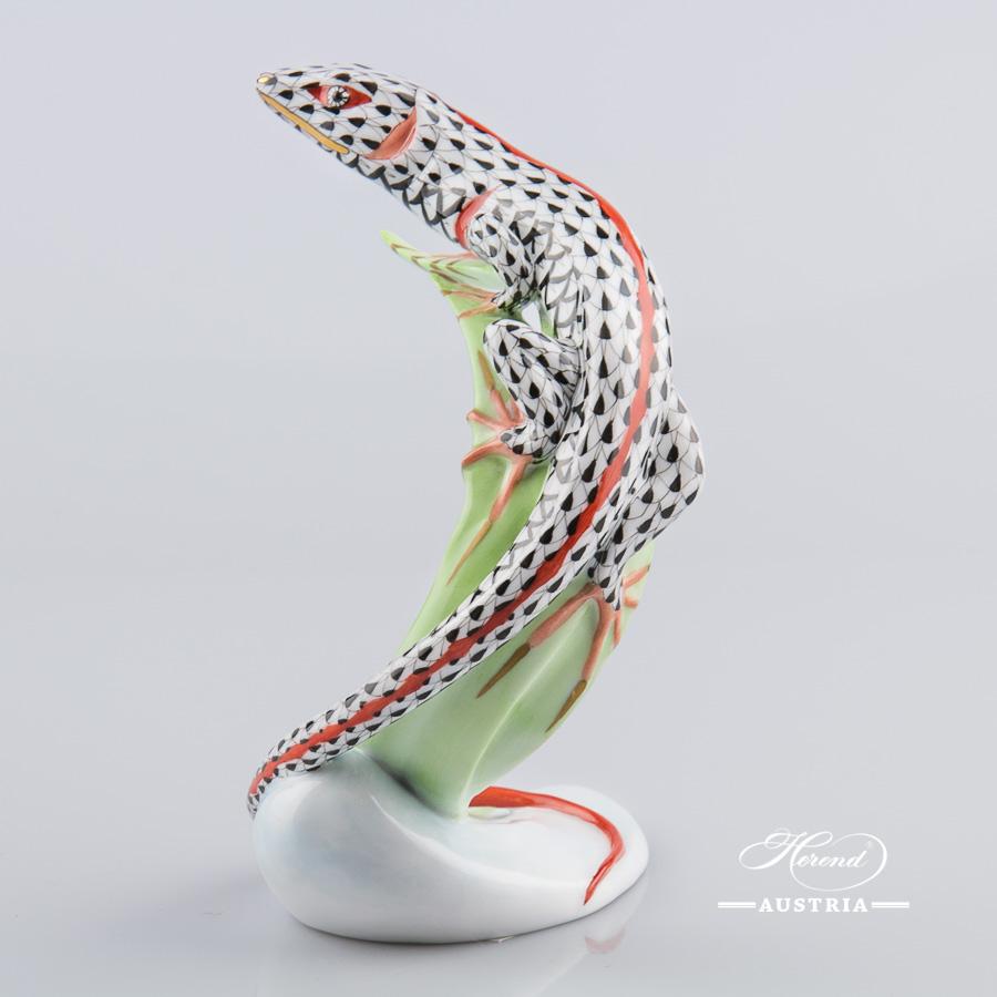 Lizard 15268-0-00 VHN Black - Herend Animal Figurine
