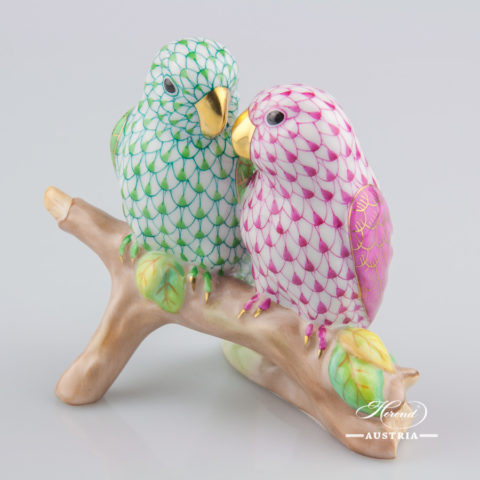 Love Birds 15728-0-00 VHQ9 and C Green - Herend Animal Figurines
