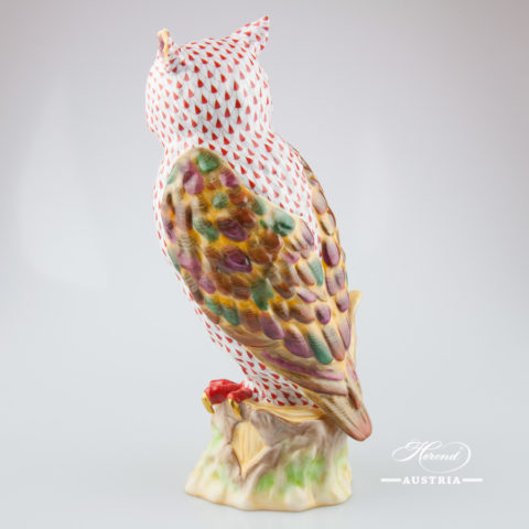 Parrot 5000-0-00 VHR Red - Herend Fine china Animal Figurine