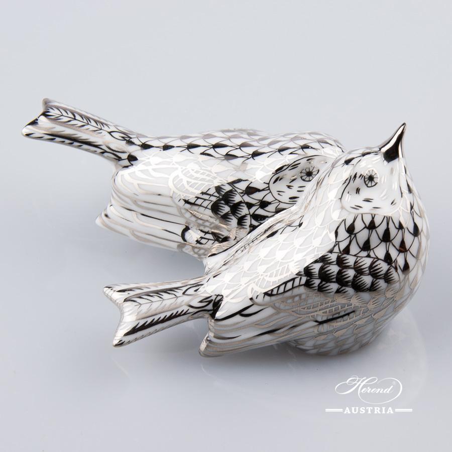 Pair of Birds 5059-0-00 PTVH Platinum - Herend Animal Figurine