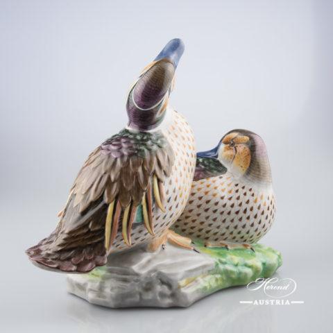 Pair of Ducks 15346-0-00 VHSP58 Special Naturalistic - Herend Animal Figurine