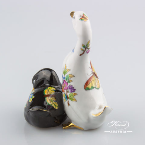 Pair of Ducks 15372-0-00 VBO and VE-FN Black - Herend Animal Figurines