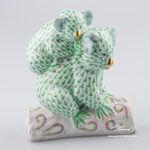 "Rhino 15333-0-00 VHV Green Fish scale decor. Herend Fine china animal figurine. Hand painted. Length: 13.0 cm (5""L)"