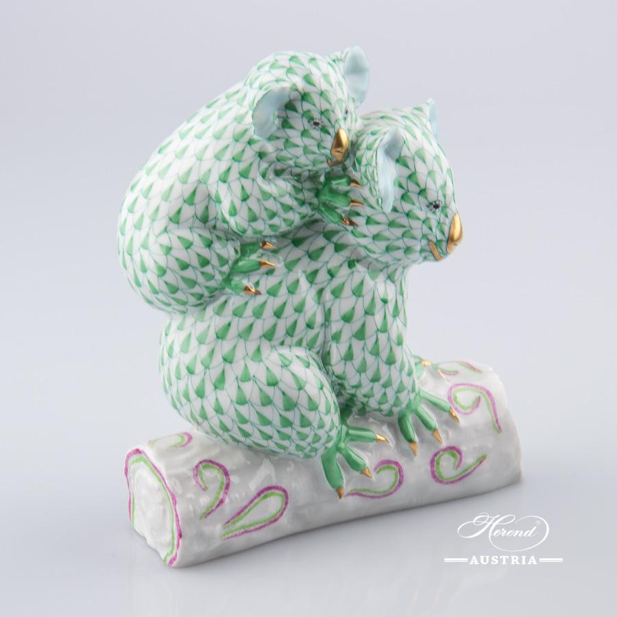 Pair of Koalas 15349-0-00 VHV Green - Herend Animal Figurine