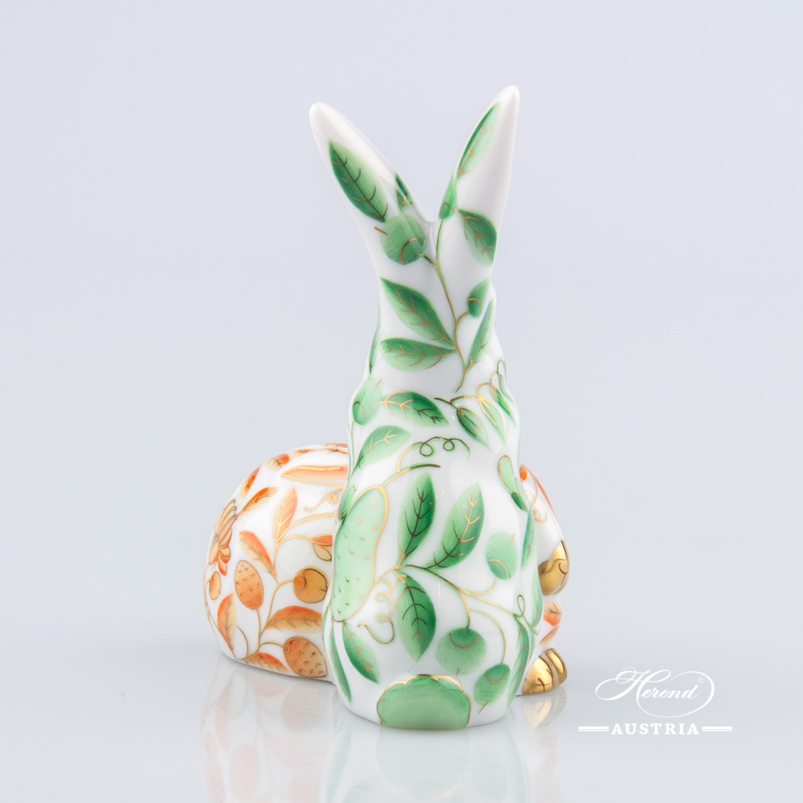 Pair of Rabbits 5226-0-00 ZOVA and ZO Green - Herend Animal Figurine
