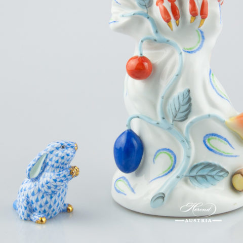 """Small Pig 5357-0-00 VHL Lilac Fish scale decor. Herend Fine china animal figurine. Hand painted. Length: 6.0 cm (2.5""""L)"""