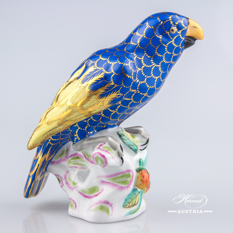 Parrot 5002-0-00 CO3 Naturalistic - Herend Animal Figurine