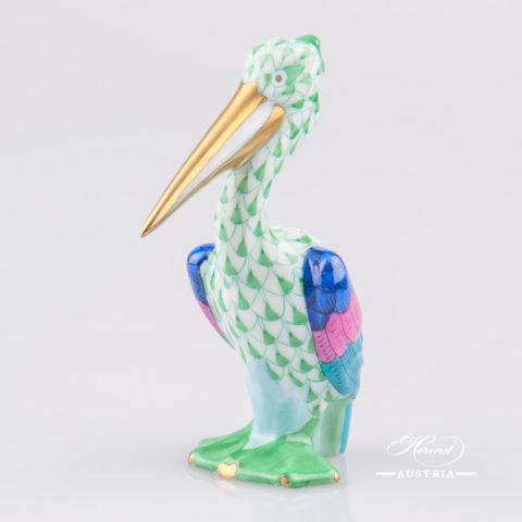 Pelican 5170-0-00 VHV Green - Herend Animal Figurine