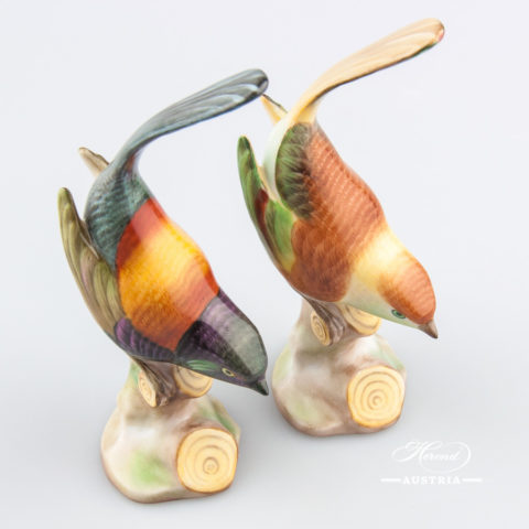 Pied Wagtail 5136-0-00 CD1 and C Naturalistic - Herend Animal Figurines