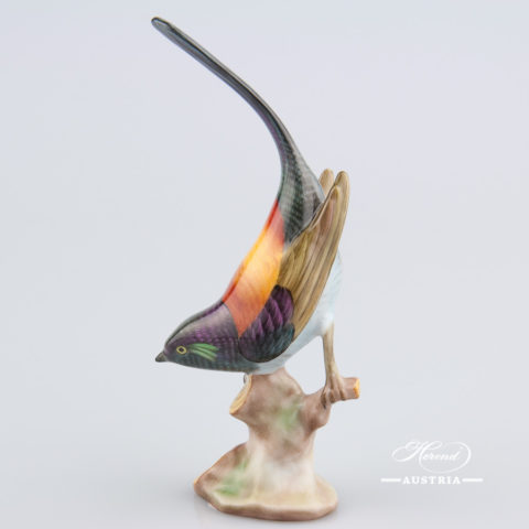 Pied Wagtail 5136-0-00 CD1 Naturalistic - Herend Animal Figurine