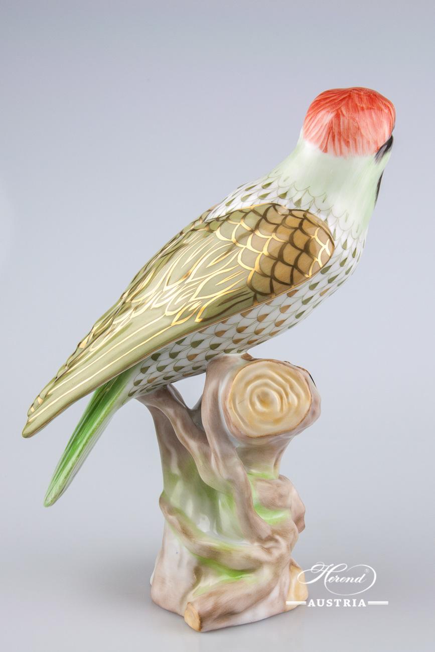 Popinjay 5075-0-00 VHSP53 Green - Herend Animal Figurine