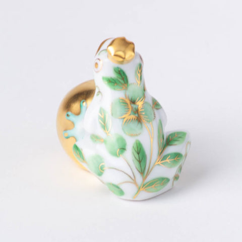 "Frog 15975-0-00 - Herend fine china animal figurines. Hand painted. Length 3.5 cm (1.5""L)."