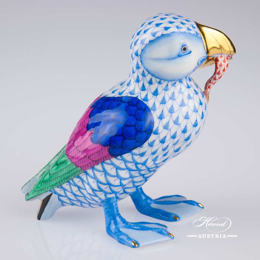 Puffin 15480-0-00 VHB Blue - Herend Animal Figurine