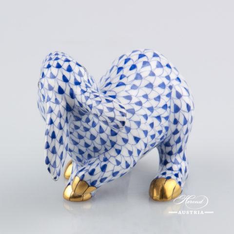 Rabbit 15452-0-00 VHFB Dark Blue - Herend Animal Figurine
