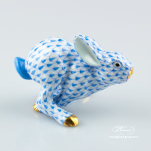 "Rabbit 15929-0-00 VHBR1 Brown fish scale decor. Herend fine china animal figurine. Hand painted. Height: 12.5 cm (5""H)"