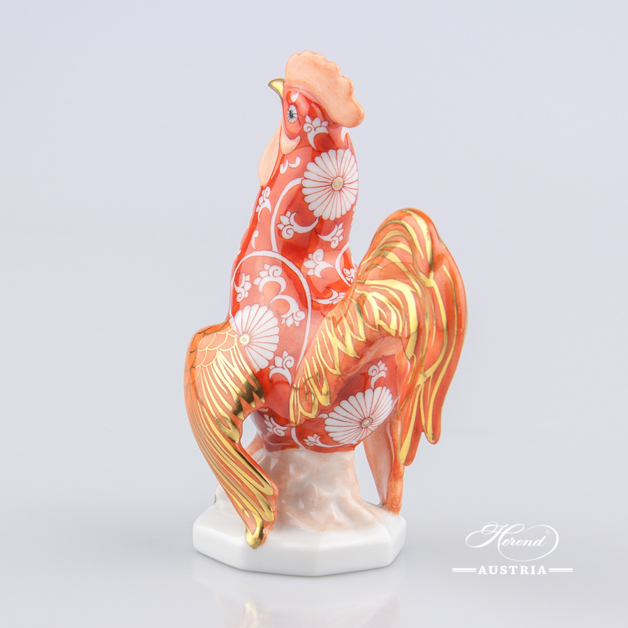 "Rooster 15014-0-00 CHRY Special Chinese Zodiac   design. Herend fine china animal figurine. Hand painted. Height 11 cm (4.25""H)."