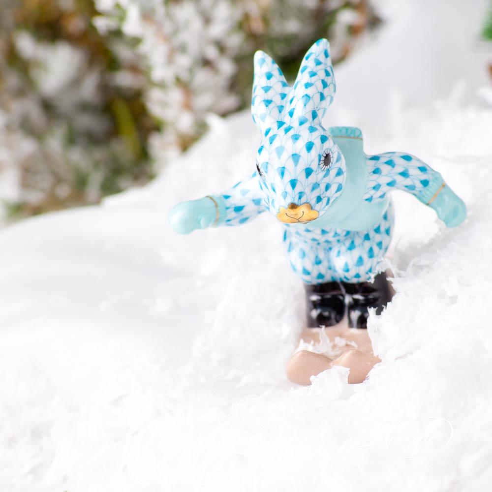 Skiing Bunny / Rabbit5564-0-00 VHP PurpleFish