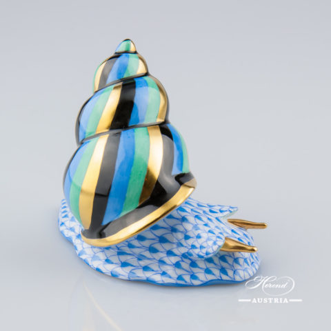 Snail 15375-0-00 VHB Blue - Herend Animal Figurine