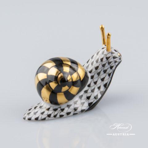 Snail 5360-0-00 VHNM Black - Herend Animal Figurine