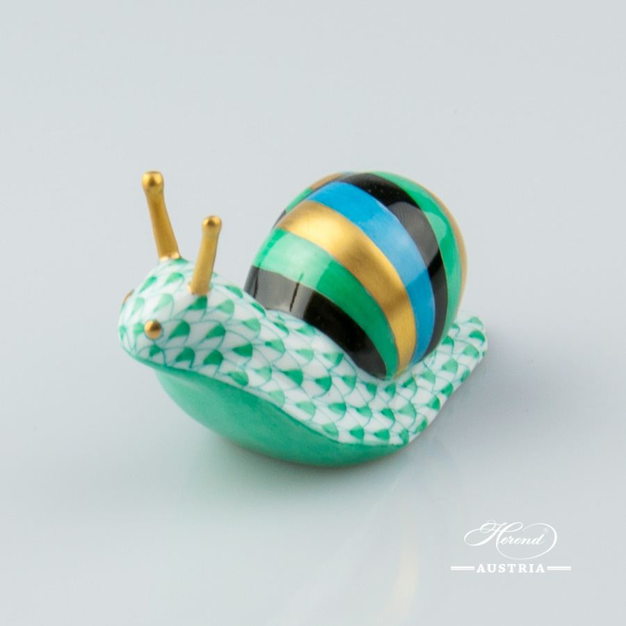 Snail 5360-0-00 VHV Green - Herend Animal Figurine