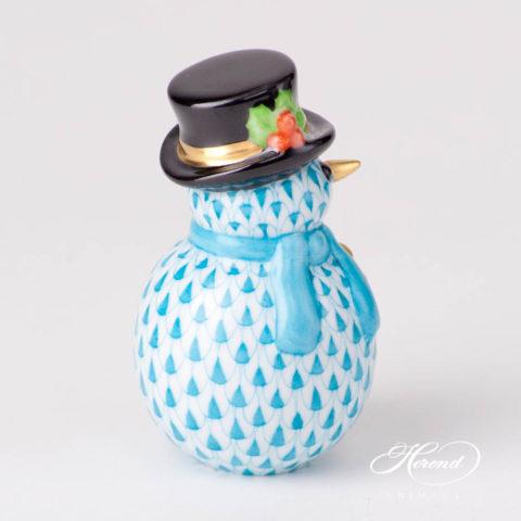 Snowman 5290-0-00 VHTQ TurquoiseFish scale design.Herend fine china