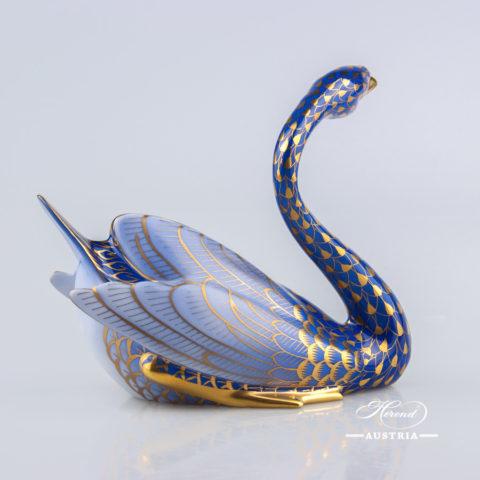 Swan 5194-0-00 VHB-OR Blue - Herend Animal Figurine