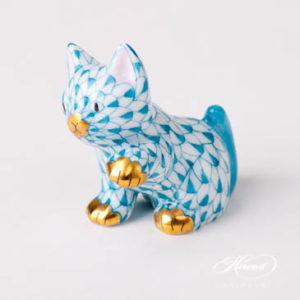 "Rabbit 15068-0-00 VHV Green Fish scale design. Herend fine china animal figurine. Handpainted. Height: 5 cm (2""H)."