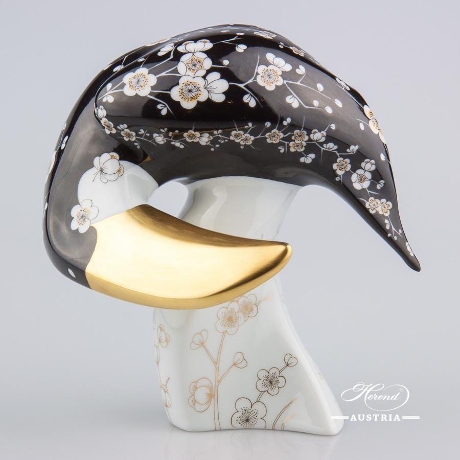 Toucan 15139-0-00 NCS-5 Black - Herend Animal Figurine