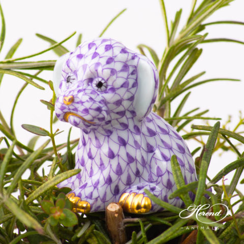 Puppy - Dog 5219-0-00 VHL Lilac Fish Scale design. Herend fine china