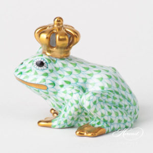 Frog King 15817-0-91 VHV2 Light Green Fish scale design. Herend fine china