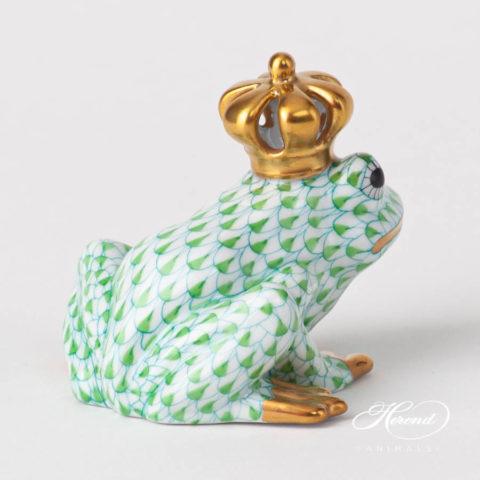 Frog King 15817-0-91 VHV2 Light GreenFish scale design. Herend fine china