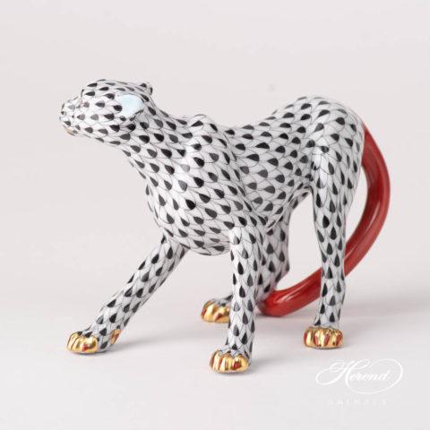 Guepard / Cheetah 15655-0-00 VHN BlackFish scale design. Herend fine china