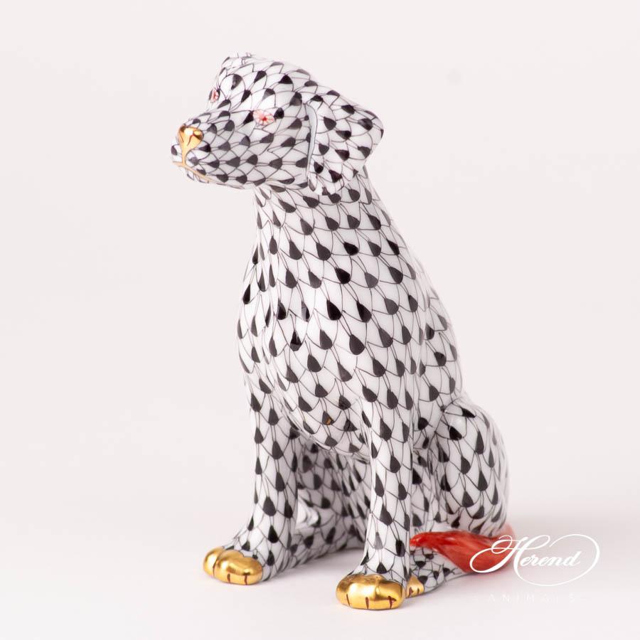 Dalmatian Dog 15566-0-00 VHN BlackFish scale design. Herend fine china