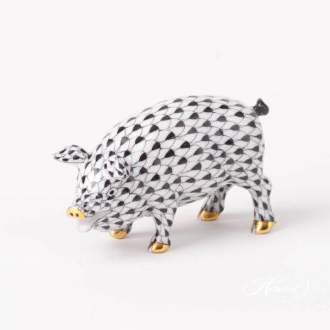Pig 15301-0-00 VHNM BlackFish scale design. Herend fine china