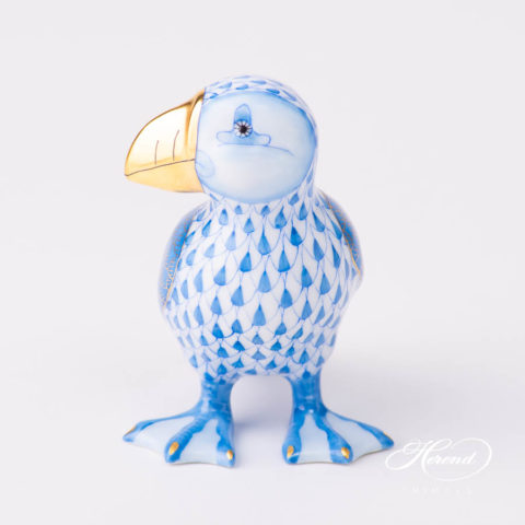 Puffin - Icelandic 5769-0-00 VHBMBlueFish scale pattern. Herend fine china