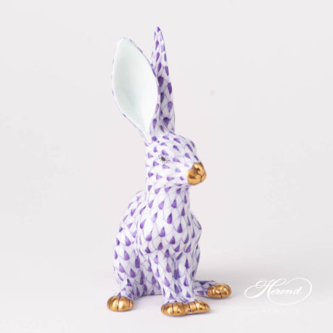 Rabbit 15929-0-00 VHL Lilac Fish scale design. Herend fine china