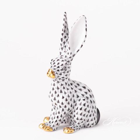 Rabbit 15929-0-00 VHNM BlackFish scale design. Herend fine china