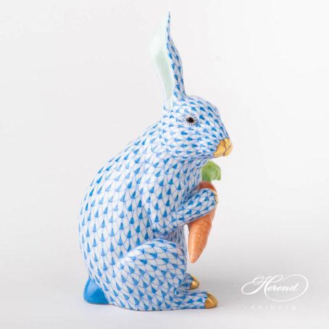 Rabbit w. Carrot 15097-0-00 VHB BlueFish scale design. Herend fine china