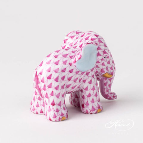 Elephant Small 5265-0-00 VHP PinkFish scale design. Herend fine china