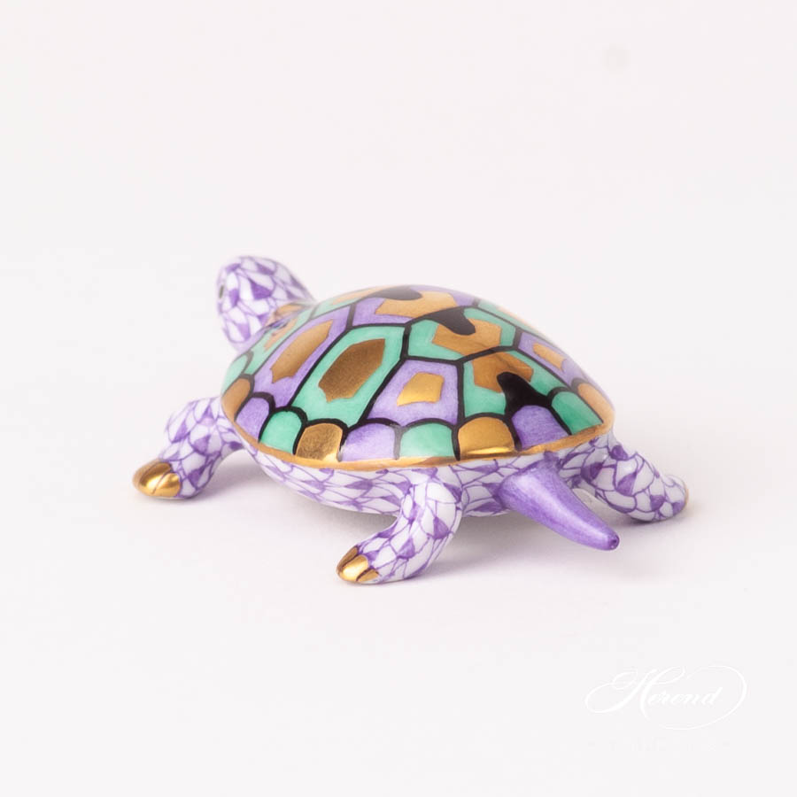 Turtle 15508-0-00 VHL LilacFish scale design. Herend fine china