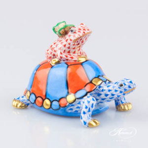 Herend Turtle with frog and butterfly