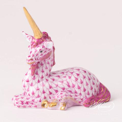 Unicorn 15359-0-00 VHP PinkFish scale design. Herend fine china